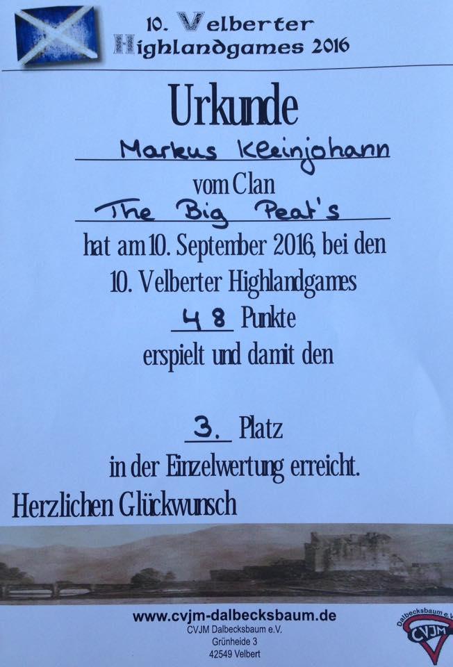 Urkunde HG Velbert 2016 Markus Einzelwertung
