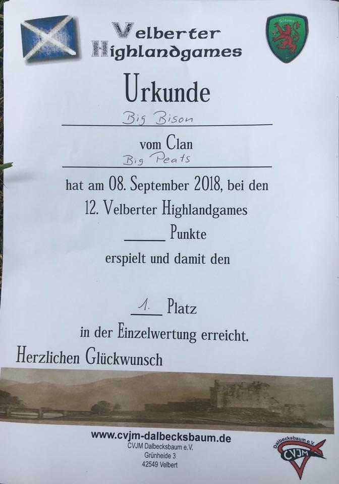 Urkunde Raffa einzel Velbert HG 2018