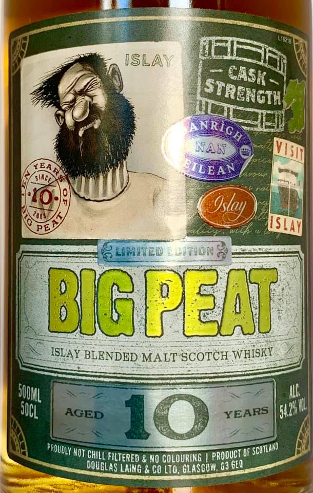 Big Peat 10 Y Cask strength 2019 vorne