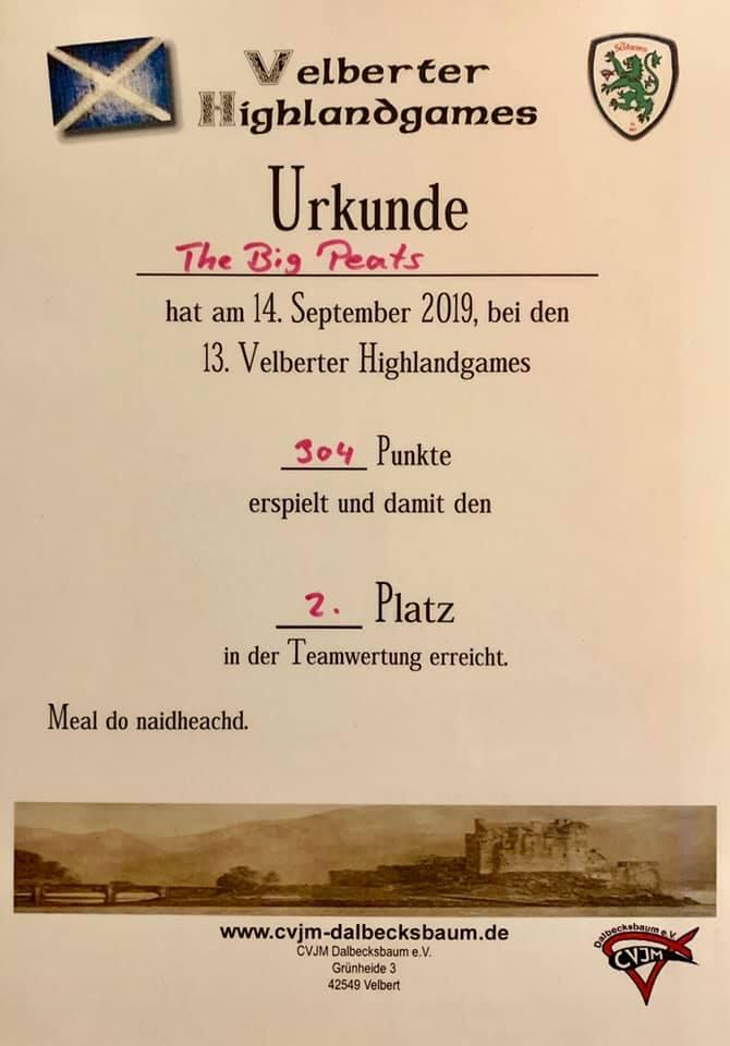 Urkunde Velbert 2019